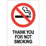 No Smoking safety sign - Thank You For Not 039